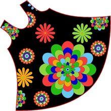 Bohemian Printed Rayon Umbrella Dress