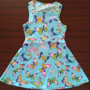 Kids Girls Frock Surplus Garments Sky Blue