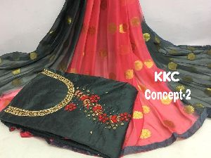 CONCEPT - 2 KHATALI WORK DRESS MATERIAL