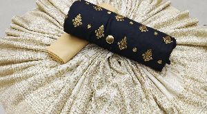 Glass Silk Cotton With Ethinic Wear