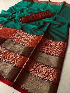 Surbhi Cotton Jekard With Party Wear Saree