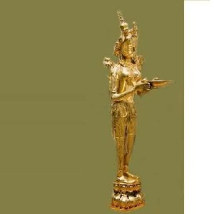 Brass Decorative Tara Statue For Home Hotel And Party