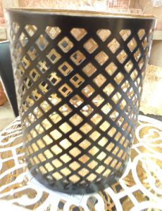 Aluminum Stool Brass Antique