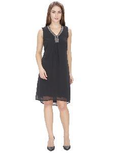 Embellished A-line Dress