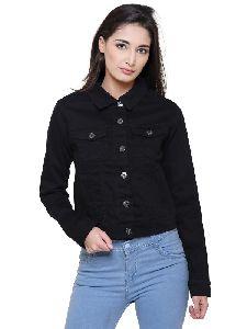 Women Black Color Cotton Summer Jacket