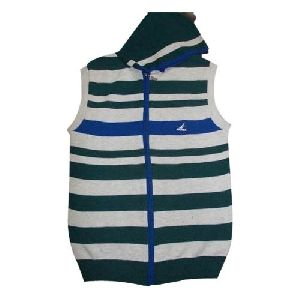Front Zip Sleeveless Sweaters