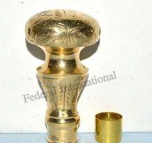 Brass Walking Stick Cane Victorian Head Vintage Amazing Style Handle Chwhl10