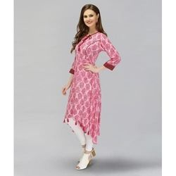 Party Wear Printed Kurtis