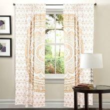 Indian Mandala Hippie Tulle Cotton Door Window Hanging Door Curtain