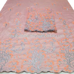 African Peach Color George Wrapper Fabric