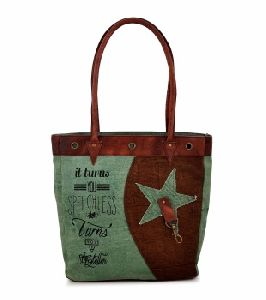 Custom Size and Canvas Material Recycled Tote Bag Reusable Women Shopping Bag