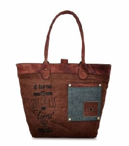 Recycled Cotton Canvas Womens Shopping Shoulder Bag