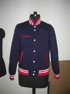 Fleece Light Weight Navy Blue Varsity Jacket