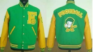 Kelly Green and Bright Gold Stylish Varsity Jacket