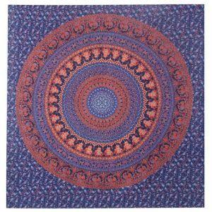 Double Mandala bed sheet Bohemian Tapestry