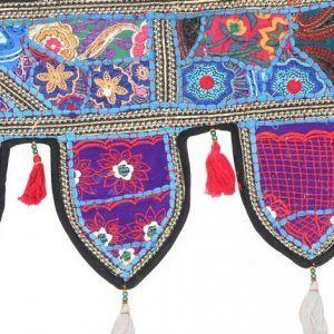 Embroidered Patchwork Door Valances Hippie Cotton Ethnic Wall Hanging