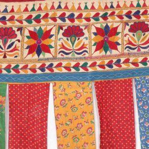 Embroidered Patchwork Door Valances Toran Window Valances