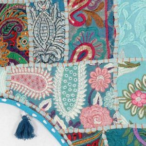 Ethnic Wall Hanging Vintage Embroidered Patchwork Door Valances Toran Window Valances