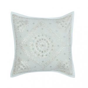 Hand Work With Mirrior White 1616 inch Cushion Cover