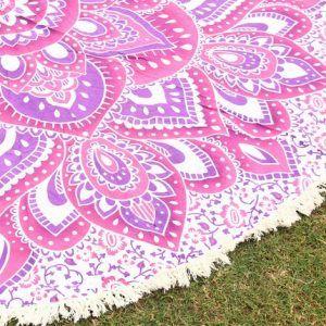 Hippie Yoga Mat Boho Beach Throw Roundie Gypsy Beach Towel
