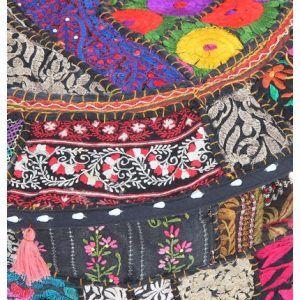 Home Decorative Handmade Vintage Pouf Cover Ottoman Cover