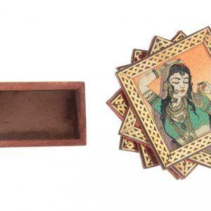 Set of Gemstone Painting Tea Coaster Coffee