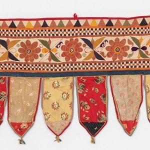 Vintage Embroidered Patchwork Door Valances Toran Window Valances