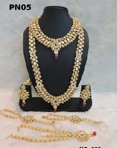 Indian Artificial Imitation Gold Or Silver Plated Jewelry Sets Kundan Jewellery