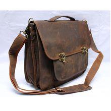 Goat Leather Vintage Shoulder Bag Briefcase