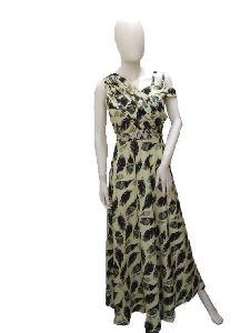 Ladies Fancy Printed Gown