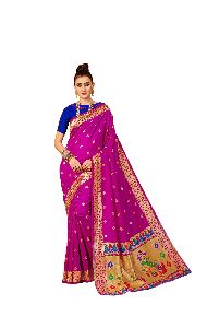 Wedding Wear Pink Paithani Silk Saree