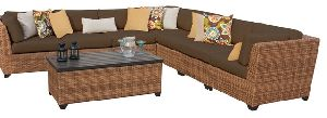 L Shaped Bamboo Sofa Set