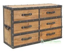 Solid Wood Industrial Chest Of Drawers Cabinet