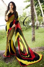 Georgette Printed Saree With Bhagalpuri Silk Blouse