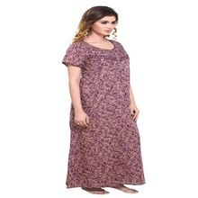 Embroidered Night Gown For Woman