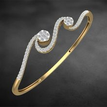 Solitaire Look Beautiful Unique Real Diamond Bracelet Rose