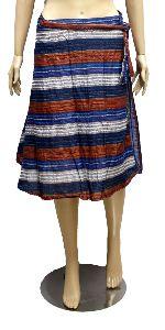 Ethnic Cotton Boho Hippie Gypsy Women\\\'s Short Wrap Around Skirt