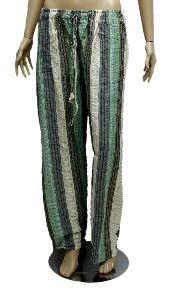 Ladies Bohomain Harem Yoga Pant In Cotton Fabric With Elastic Waist
