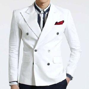 White Double Breasted Jacket