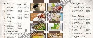 Hotel Menu Card Printing Services