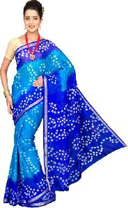 Bandhani Printed Chiffon Saree