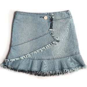 Girldenim Skirt With A Flare