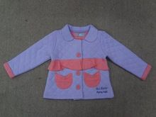 Kids Winter Jacket Long Sleeve Quilted Jacket With Pockets In Lavendar