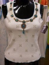 Embroidered Knitted Top, T-shirt