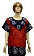 Cotton Womens Batik Printed Kurti