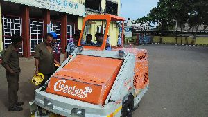 Industrial Road Sweeper On Rent