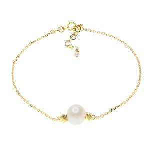 Gold Bracelets With The Freshwater Pearl