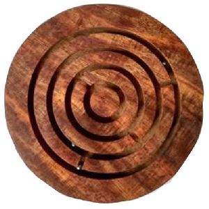 Wooden Carved Maze Game