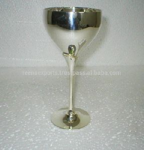 Sterling Brass Silver Wine Champagne Flutes Goblets