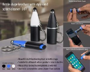 Keychain With Stylus And Screen Cleaner